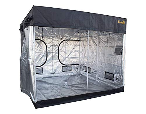Gorilla Grow Tent GGTLT88 LITE LINE, 8′ x 8′ (No Extension Kit) Grow Tent, 8′ x 8′ x 6'7″ Black