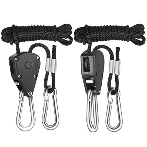 iPower 1/8 Inch 8-Feet Long Heavy Duty Adjustable Rope Clip Hanger, 150lb Capacity