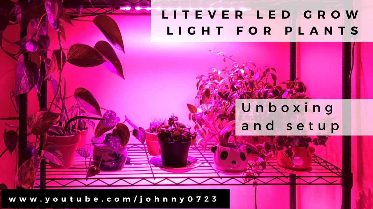 Litever LED Grow Lights for plants – Unboxing and easy wire shelf installation tutorial