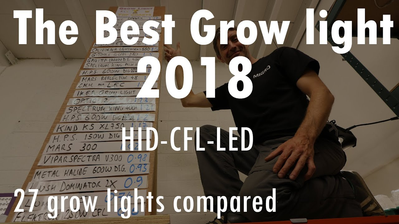 The best grow light 2018 – HID CFL & LED compared