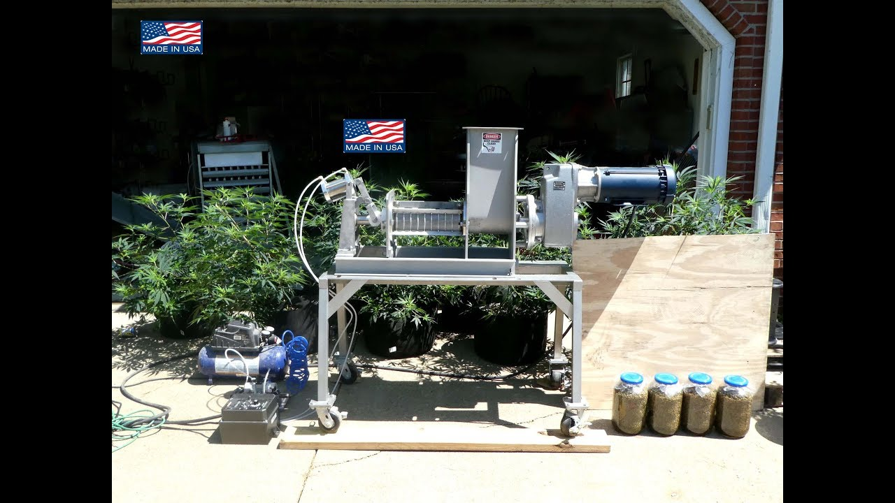CBD Oil and Solvent Extraction Screw Press.  MCT, Coconut Oil Infused Hemp