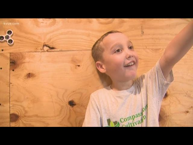 CBD oil giving a young boy a new childhood