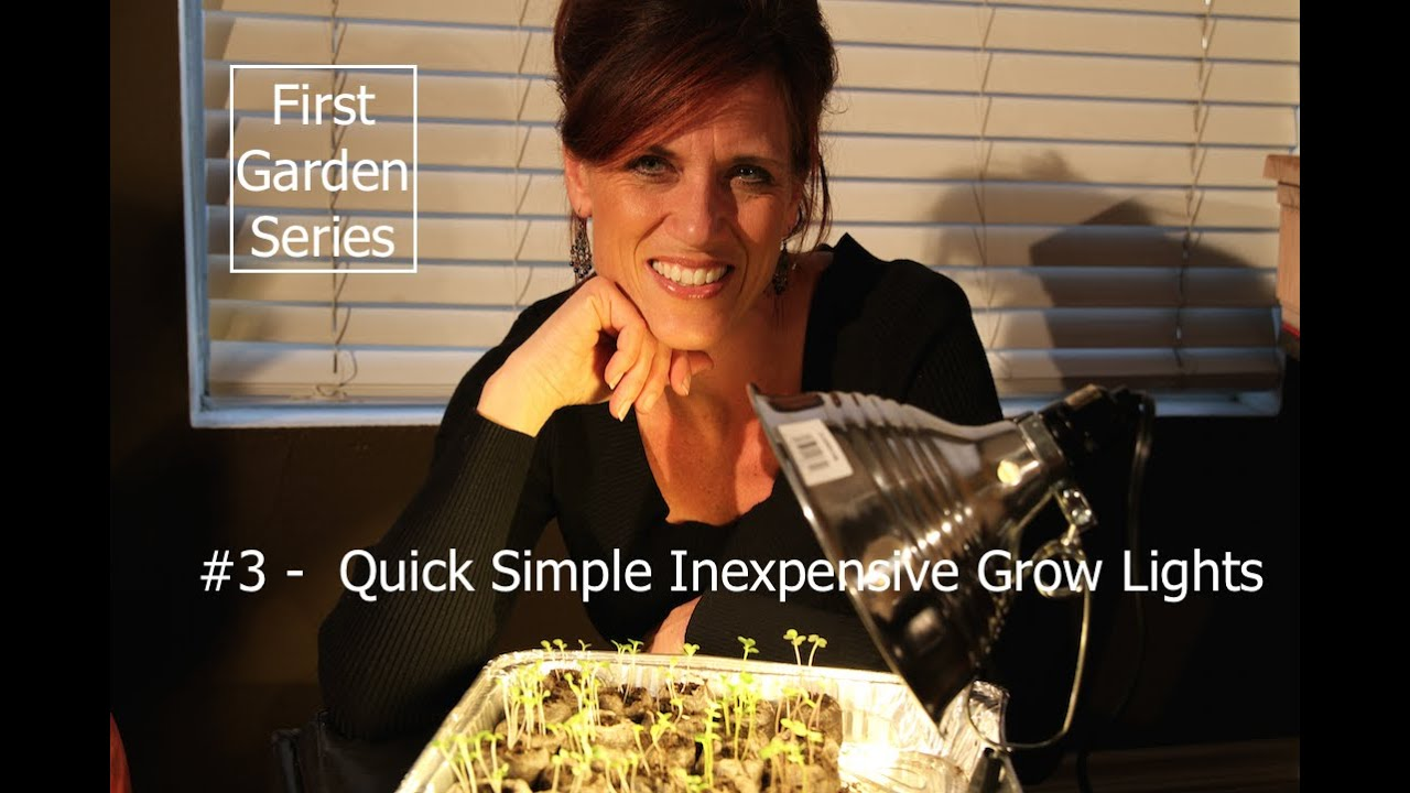 First Garden Series # 3 Quick, Simple and Inexpensive Grow Lights