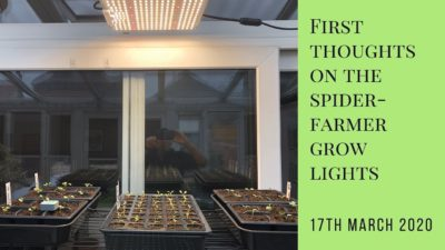 First thoughts on the Spider-farmer grow lights
