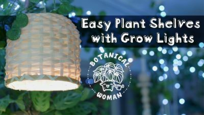 Easy Plant Shelves with Grow Lights