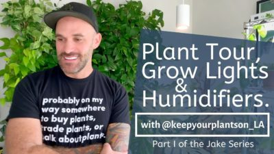 Rare Plant Tour | Grow Lights & Humidifiers for Indoor Houseplants | Jake Series Part I | Ep 27