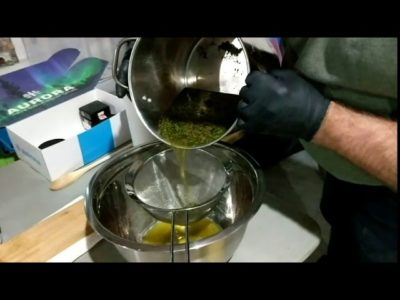 Making cannabis oil for fighting cancer