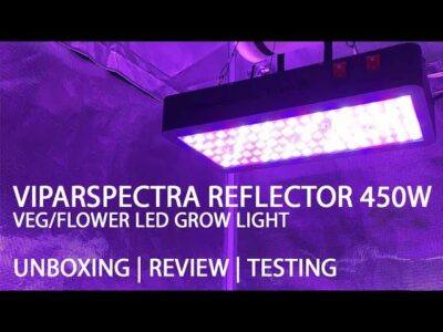 Viparspectra Reflector 450W Veg/Flower LED Grow Light Unboxing and Review