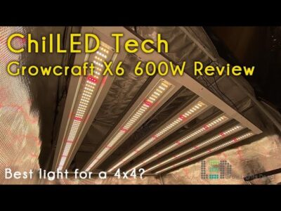 ChilLED Tech Growcraft X6 LED Grow Light Review and PAR Testing